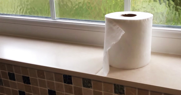 This Very Sarcastic Dad Uses YouTube To Teach His Kids How To Change A Toilet Roll